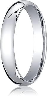 Men's Platinum 4mm Slightly Domed Standard Comfort Fit Wedding Band Ring