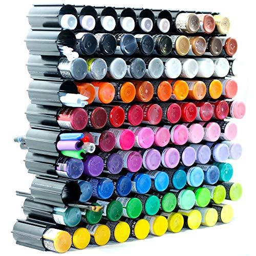 100 pc Set, Craft Paint Organizer - Storage Paint Rack, Pens, Vinyl Rolls - Craft Room Organizer - Marks Mandalas, Hex Hive Made in USA