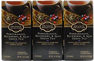 Private Selection Pomegranate, Blueberry & Acai Green Tea (Pack of 3)