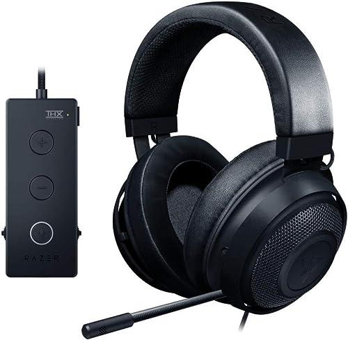 Razer Kraken Tournament Edition THX 7.1 Surround Sound Gaming Headset: Retractable Noise Cancelling Mic - USB DAC - ...