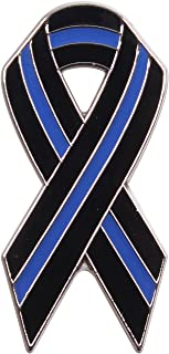 Rothco Thin Blue Line Ribbon Pin
