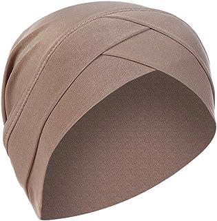 TOPME عمامة امرأة السرطان المسلمين تمتد قبعة أغطية الرأس الكيماوي الحجاب موضة مريحة قبعة النوم الحجاب مسلم قبعة