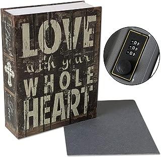 Secret Safe Lock Box Cash Gun Stash Hidden, Large 10.5 x7.9 x 2.6 inches (Love)