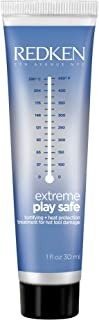 Redken Extreme Play Safe Heat Protection and Damage Repair Treatment | For All Hair Types | Helps Reduce The Appearance of Split Ends | With Tourmaline