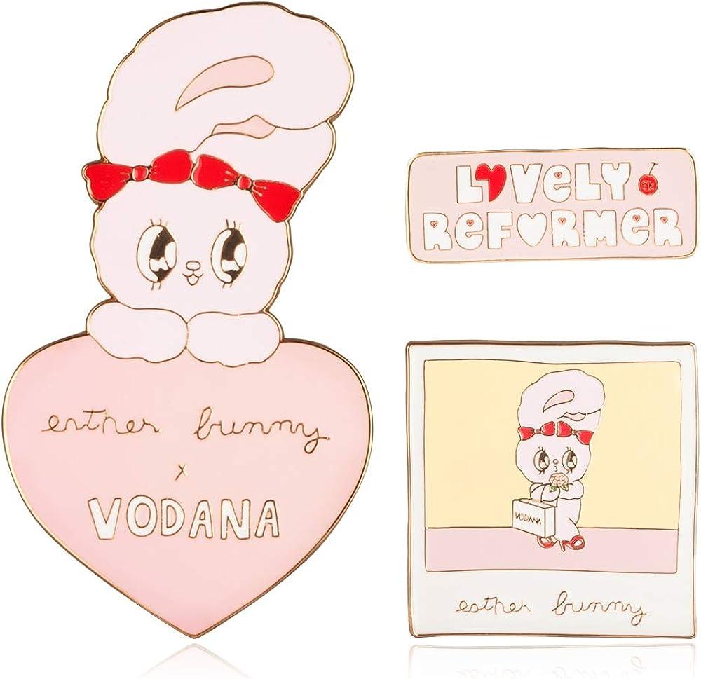 VODANA x Ranking TOP4 EstherLovesYou 3Pieces Cute Brooch Now free shipping Girls Adorable Set