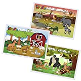 Baby PhD - Animal Designs Pack - Disposable Placemats for Babies & Toddlers - 60...