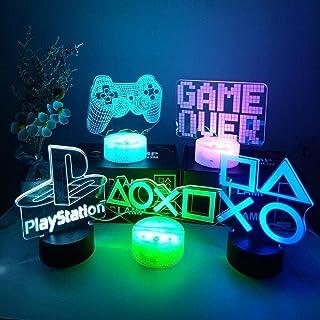 Tafellampen 3D Nachtlamp Gaming Room Bureau Setup Verlichting Decor op de Tafel Game Console pictogram Logo Sensor Licht w...