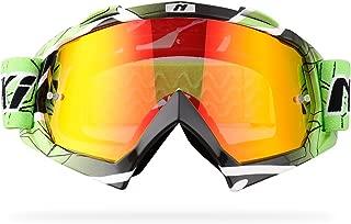 green dirt bike goggles