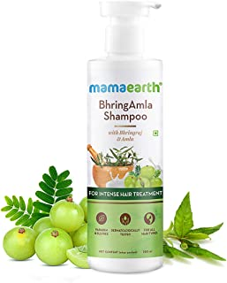 Mamaearth BhringAmla Shampoo for dry & frizzy hair with Bhringraj & Amla for Intense Hair Treatment – 250 ml