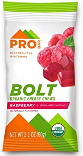 PROBAR - Bolt Organic Energy Chews, Raspberry, Non-GMO, Gluten-Free, USDA Certified Organic, Healthy, Natural Energy, Fast...