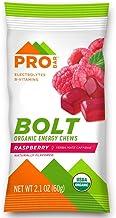 PROBAR - Bolt Organic Energy Chews, Raspberry, Non-GMO, Gluten-Free, USDA Certified Organic, Healthy, Natural Energy, Fast Fuel Gummies with Vitamins B & C (12 Count)