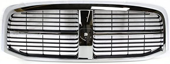 New Front Grille For 2006-2009 Dodge Full Size Pickup Chrome/Black CH1200282