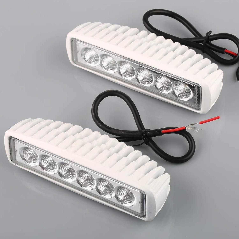 FidgetFidget 18W Spreader Led Marine Dock Light 12v for Boat Flood Light White 2pcs