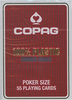 Copag Plastic Poker Jumbo Face Playing Cards (Red)