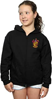 Harry Potter Girls Gryffindor Crest Breast Print Zip Up Hoodie