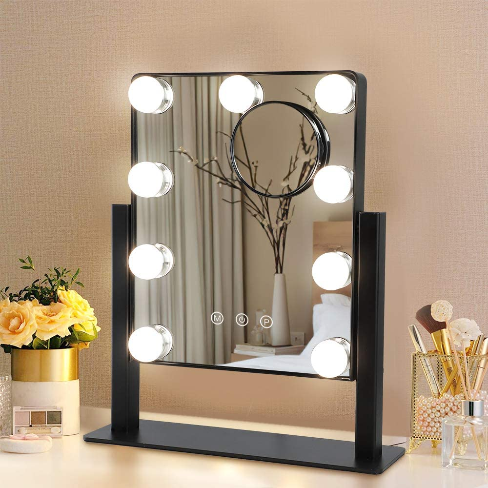 Hollywood Lighted Vanity Makeup Mirror Depuley with Lights Cheap mail order shopping Gifts Plug