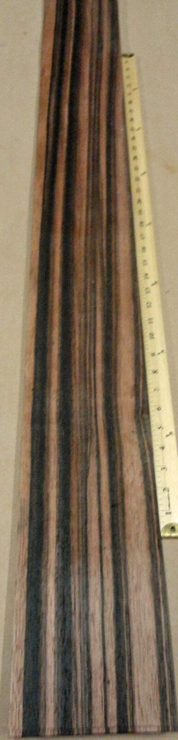 Max 79% OFF 1 Pc of Ebony Macassar Wood 70% OFF Outlet Veneer raw Backing x 5
