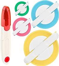GreeStore - Juego de herramientas para hacer pompones de 4 tamaños para hacer manualidades de lana con tijeras y tijeras