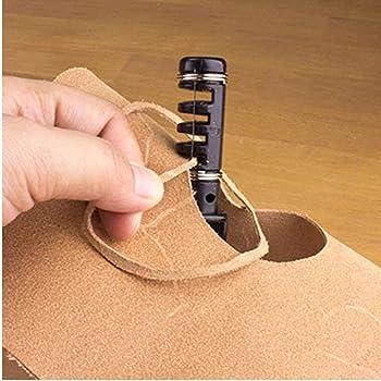 Beunyow 61 Piezas Kit de Herramientas de Coser de Cuero Artesanía de Costura Manual de Bricolaje con Ranurado, Punzón, Hilo Dedal, Aguja de Cuero Punzón de Perfomación Kit de Estampado de Hilo: