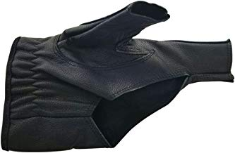 Allness Inc Genuine Leather Two Finger Tactical Archery Shooting Glove Hand Finger Guard Protector Glove