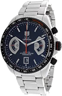 TAG Heuer Men's CAV511C.BA0904 Grand Carrera Automatic Chronograph Black Dial Watch