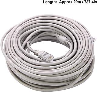 OKBY Ethernet-kabel - 5M/10M/15M/20M RJ45+DC Ethernet kabeltelevisiekabel voor IP Camera's NVR Systeem 10Mbps/100Mbps (20M)