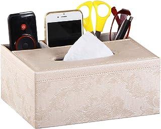Artibetter Boîte à mouchoirs en Cuir Porte-télécommande Crayon à Ciseaux pour Bureau à Domicile