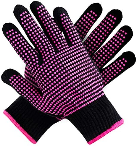 Teenitor 2 Pcs Heat Resistant Gloves with Silicone Bumps New Upgraded Professional Heat Proof product image