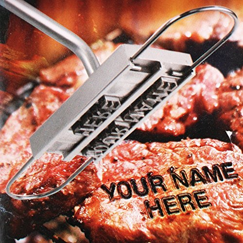 Uten® Stainless Steel BBQ Barbecue Brand Fer lettres Accessoires Pince Outils Burger à steak