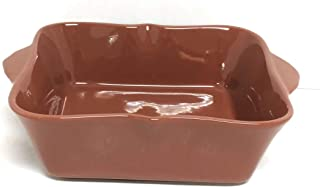 Temp-tations Bella 8x8 Brownie Baker 1.5 Qt Square Casserole Dish Replacement (Brown)