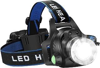 ヘッドライト LED ヘッドランプusb充電式 IP65防水 高輝度CREE T6 人感センサー 角度調節可能 ズーム機能 登山 防災 夜釣り キャンプ 作業用 ヘルメット ライト Linlzkm
