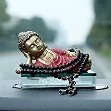PPCP Brass Buddha Sculpture Hand-Carved Feng Shui Statue Crafts Home Decoration 10×4.5×6.5cm