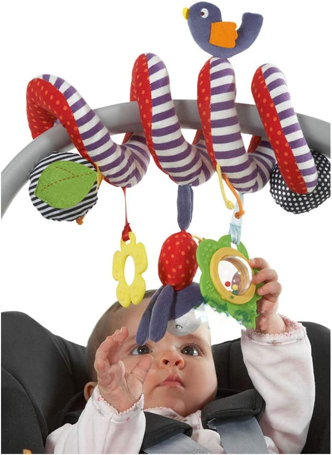 FOREAST Baby Crib Hanging Rattles Toys Infants Spiral Stroller Car Seat Toy for Kids (Bird)