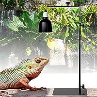 ランプハンガーホルダー、亀用ランプスタンド、爬虫類着陸用耐久性フロアランプブラケット亀爬虫類ペット供給用ライトランプスタンド