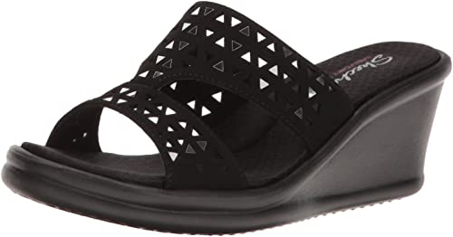 Skechers Rumblers Hope Floats, Semelle compensée Femme