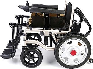 WANGXN Silla de Ruedas eléctrica Plegable de Aluminio de Peso Ligero Aeroespacial elaborado diseño de Doble potentes sillas de Ruedas eléctricas de Motor