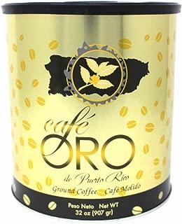 Cafe de Oro de Puerto Rico - Puerto Rican Ground Coffee by Cafe Oro Puerto Rico Inc - 32oz Can