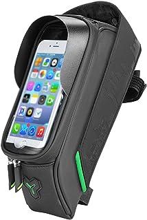 حقيبة فيديو مزودة بواقي من الستانلس ستيل مع حامل للهواتف ة - أسود مع هوك الفيلكرو، سهل التركيب والإصلاح