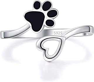 Acjfa 925 Sterling Silver Ring Paw