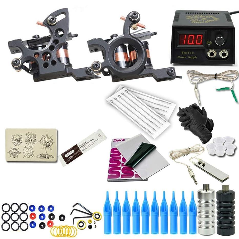 完全なコイルの入れ墨機械キットの二重機械入れ墨力の初心者の専門用具