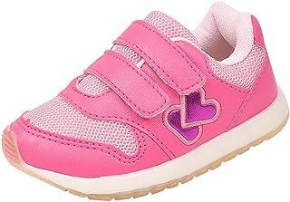 a2340045e0410 Tênis Jogging Infantil Menina Confort Super Leve Bordado