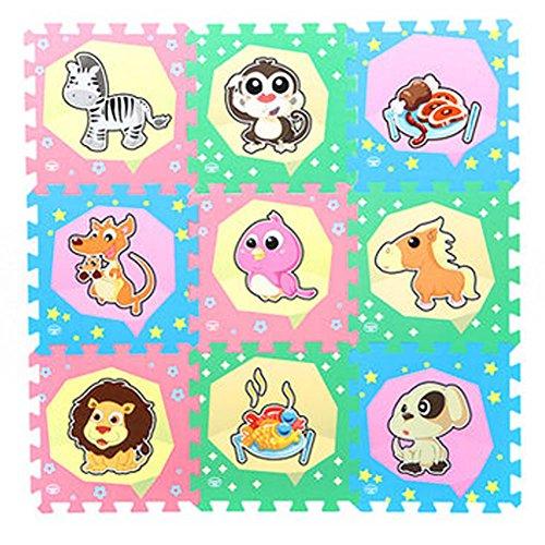 Black Temptation Baby Foam Play Mats Enfants Puzzle Playmat Chambre à Velours Mat 30x30cm(9 pièces),c