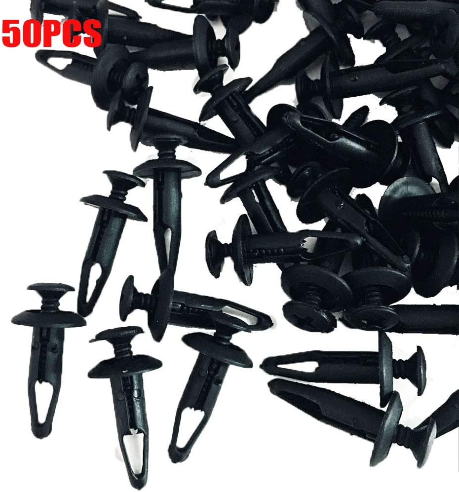 ALLMOST Manufacturer quality assurance OFFicial shop Pack of 50 Plastic Rivet Bolt Clips Screw Compa Fastener