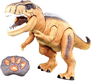 YIJIATOYS elecontrol Dinosaur Children, Electronic Walking Giant Dinosaur Toys, with Glowing Eyes, Roaring Dinosaur Voices, 18.5