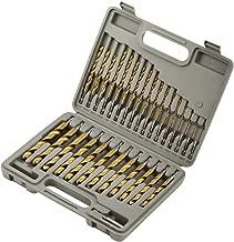 COMOWARE Titanium Impact Drill Bit Set - 30 Pcs Hex Shank HSS, Quick Change Design, 1/16