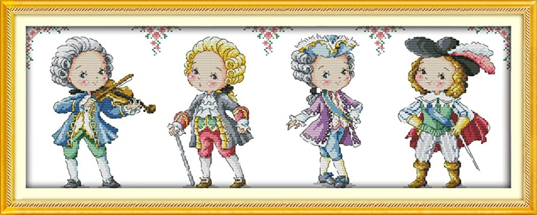 Joy Sunday Cross Stitch Kit 14CT Stamped Embroidery Kits Precise Printed Needlework - The Nobility 60×22CM