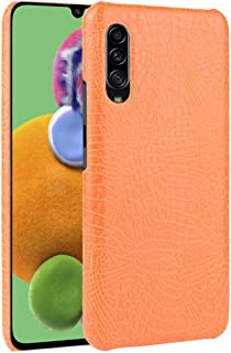For Galaxy A70s Shockproof Crocodile Texture PC + PU Case New (Black) Lipangp (Color : Orange)