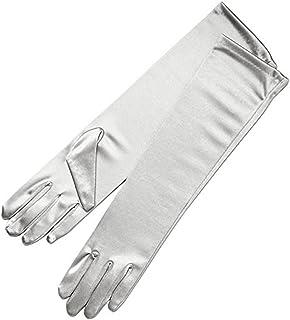 """Women Elegant Elbow Length 15"""" Satin Gloves"""