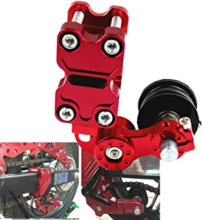 Motorcycle Chain Adjuster Chain Tensioner Automatic Adjuster Aluminum Red For Motocross Dirt Bike ATV
