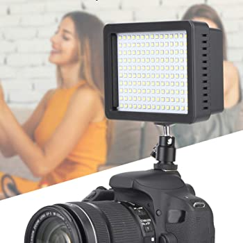 2 Xinwoer Video Fill Light 96LED 3200-6000K Camera LED Video Light Set with Battery and Charger 110-220V,Adopting Coded Digital Dimming
